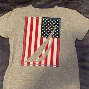 Nautica American flag tee size 4